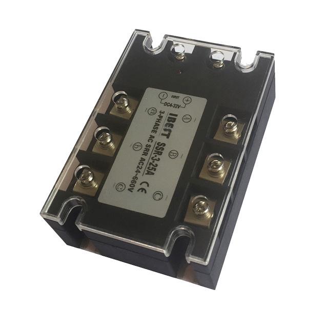 25A三相交流固态继电器直流控制交流AC110/220/380V 山崴生产厂家