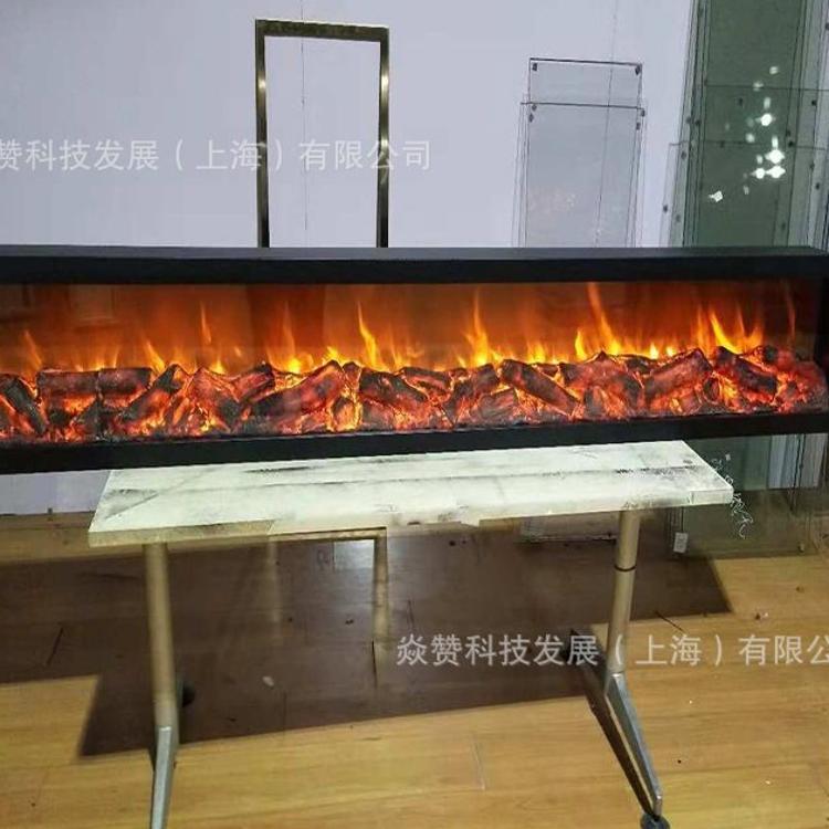 1.965米假火焰 欧式仿真壁炉 电子led仿真火焰嵌入式壁炉