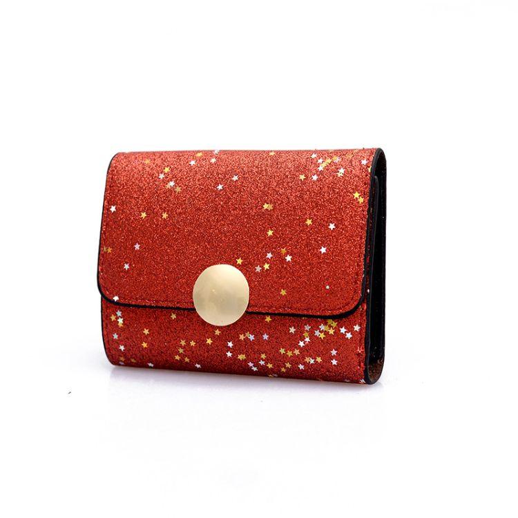 韩版新款女士钱包女短款青年个性折叠小钱夹时尚潮流零钱包卡包