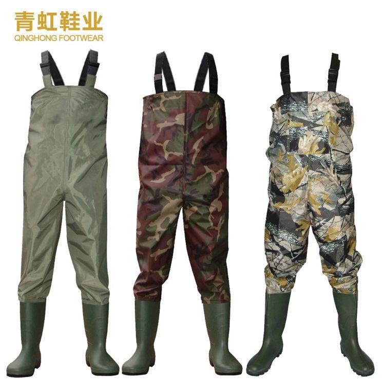 青虹鞋业工厂订制LOGO 外贸出口品质儿童成人尼龙连体下水裤