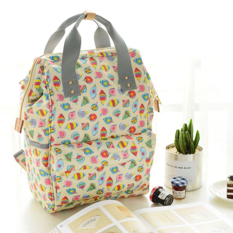 妈咪包 ins新款便携式母婴包时尚多功能双肩背包大容量手提妈妈包