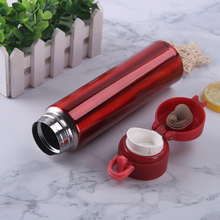 昆明不锈钢保温杯-密封防漏弹跳杯-商务办公礼品杯可批发定制