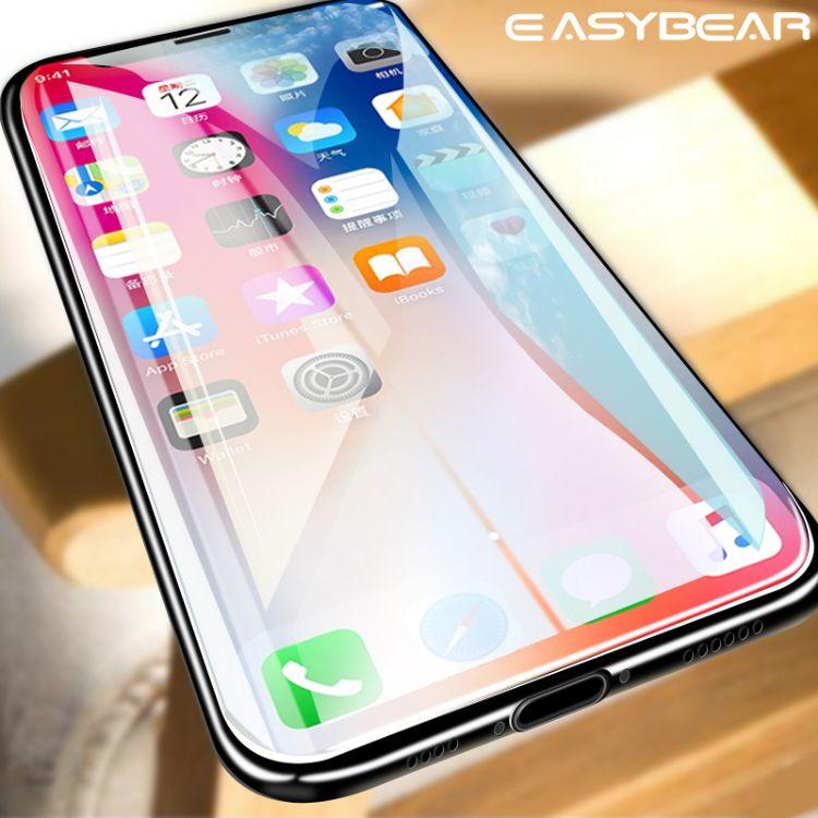 适用iPhone XS max/XR手机钢化膜 10D弧边全屏苹果X高清贴膜批发