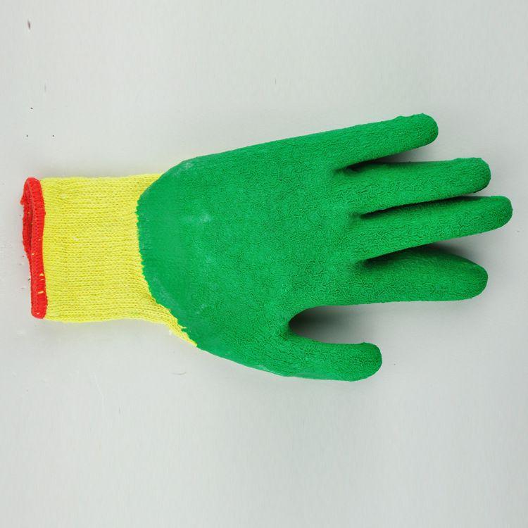 环保劳保手套 乳胶皱纹手套 来利斯耐磨抓握力强劳保手套批发