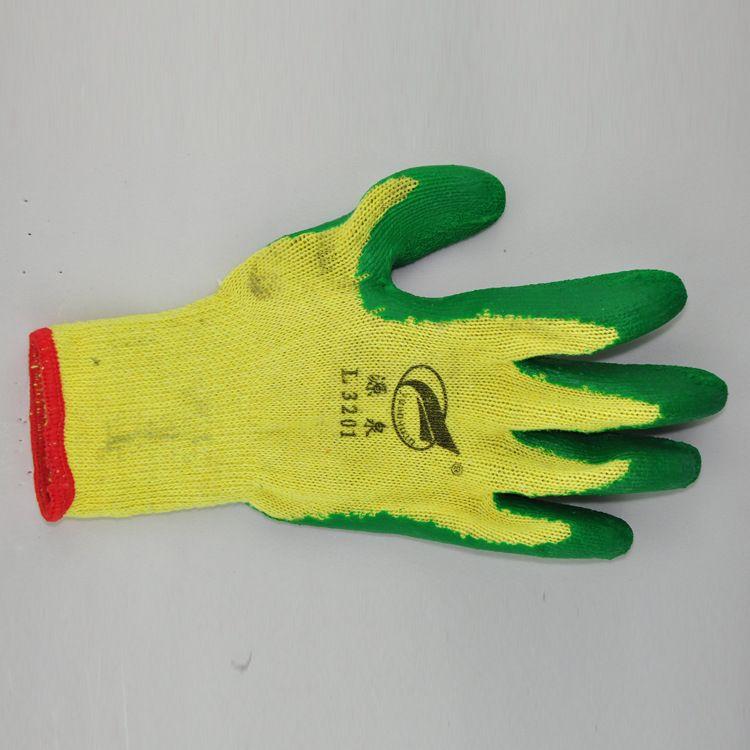 来利斯耐磨抓握力强劳保手套批发乳胶皱纹手套