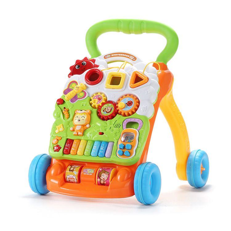 优乐恩宝宝学步车手推车玩具儿童多功能学走路助步车防侧翻可调速
