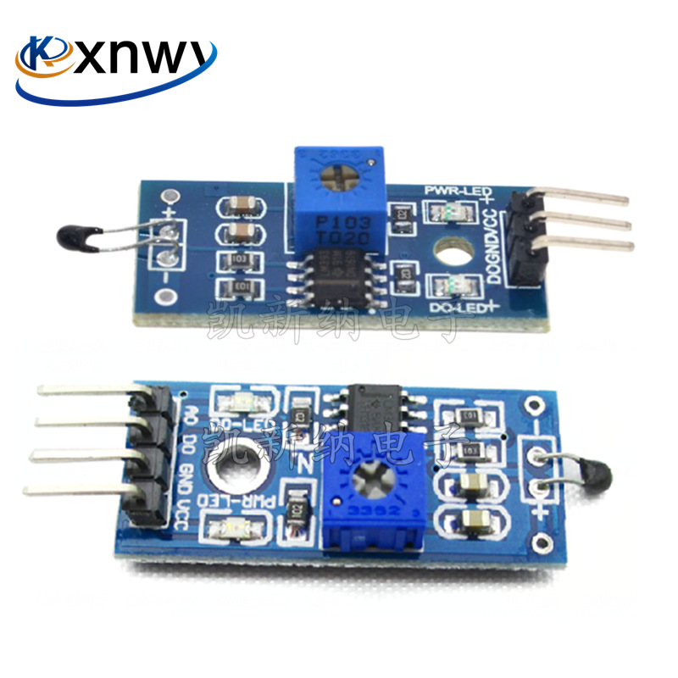 Kxnwy 热敏传感器模块 温度开关传感器模块 热敏电阻模块3线4线制