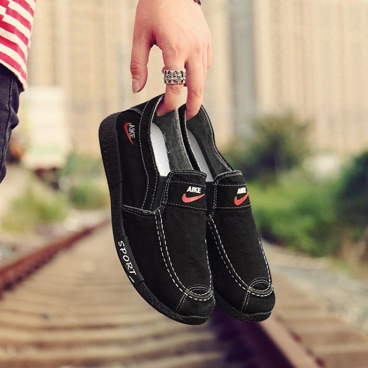 2018新款男士休闲帆布鞋男士夏季韩版潮流低帮板鞋男鞋一件代发
