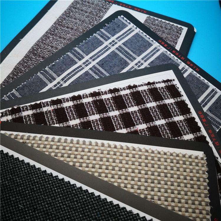 双色亚麻布 色织条纹棉麻布 提花格子布 方格麻棉布