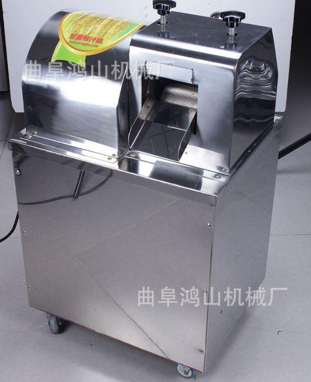电动甘蔗机商用立式电动甘蔗榨汁机  不锈钢压榨机 价格