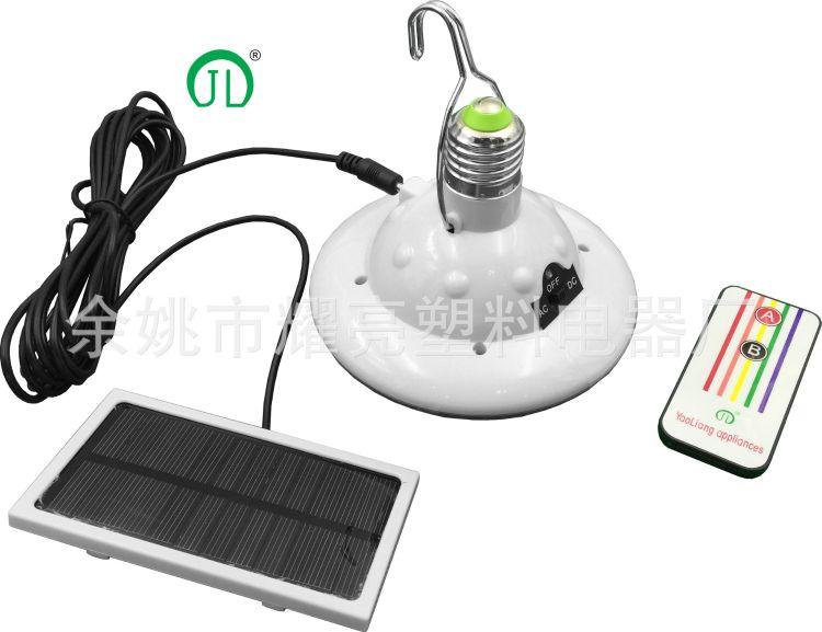 2016爆款678-8新款太阳能手提灯/帐篷灯户外庭院灯LED遥控应急灯