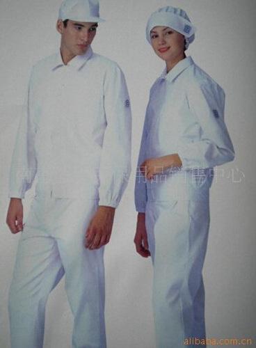 防静电工作服 透气无尘防护分体式工衣白色连帽洁净服 食品车间