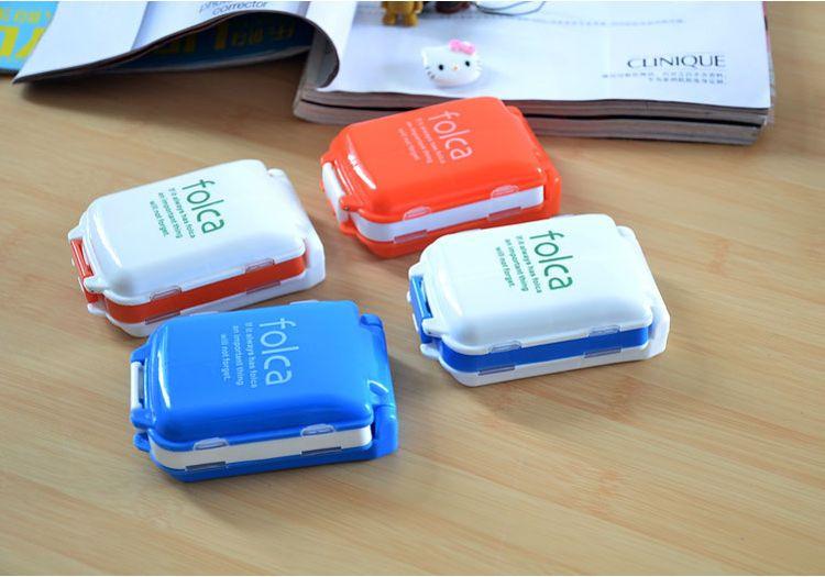 厂家直销 日本三段药盒 便携药盒备忘药盒 可折叠8格小药盒