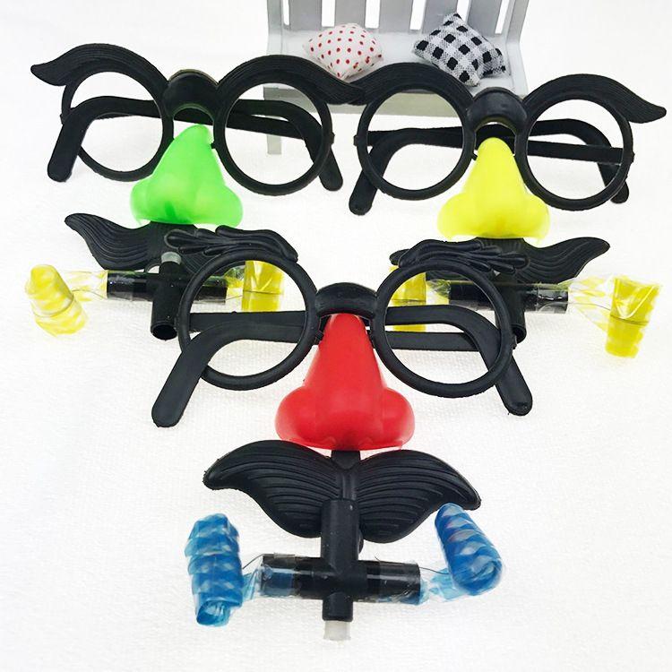 吹胡子瞪眼 大号眼镜吹龙 大鼻子眼镜吹龙 厂家直销 整蛊批发