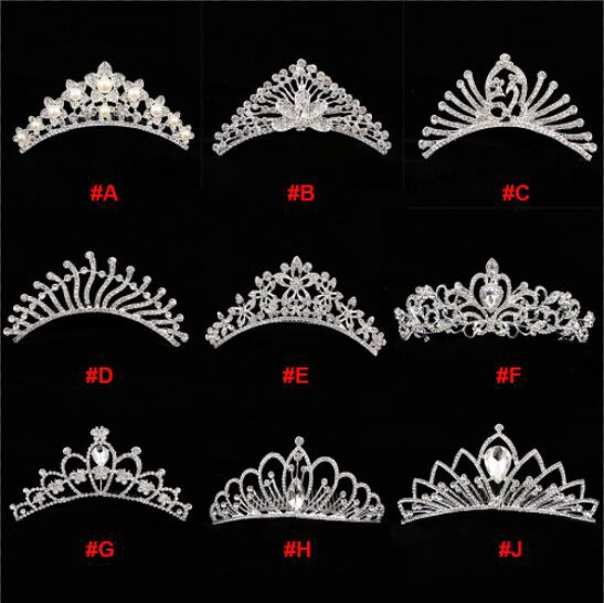 新娘皇冠头饰镶钻结婚配饰日韩公主王冠水钻发箍发梳配件饰品批发