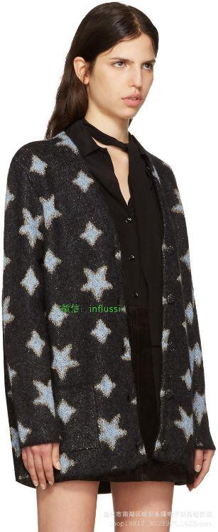 意单17秋冬 闪闪星星马海毛镶嵌金属丝+纯真丝内里 针织开衫