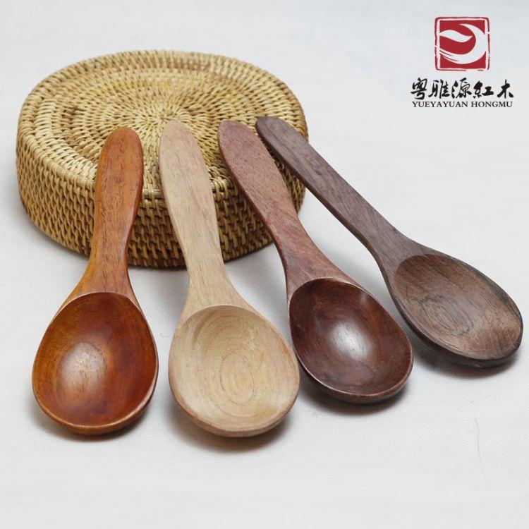 红酸枝饭勺无漆无蜡素面饭勺木勺高档红木餐具木质勺子厂家批发