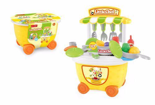 厂家直销新款儿童过家家玩具餐具厨房玩具手提收纳桶车