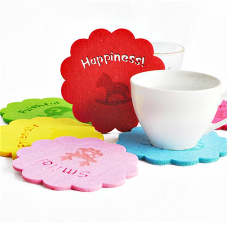 厂家定制毛毡布水杯垫家用卡通杯垫防滑隔热垫水杯垫布艺茶杯垫