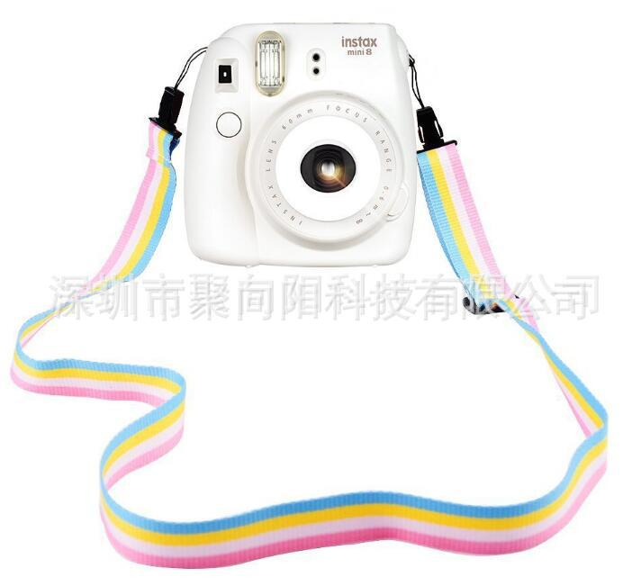 拍立得相机肩带 mini9 8配件 加厚 相机背带 涤纶彩色肩带 挂绳