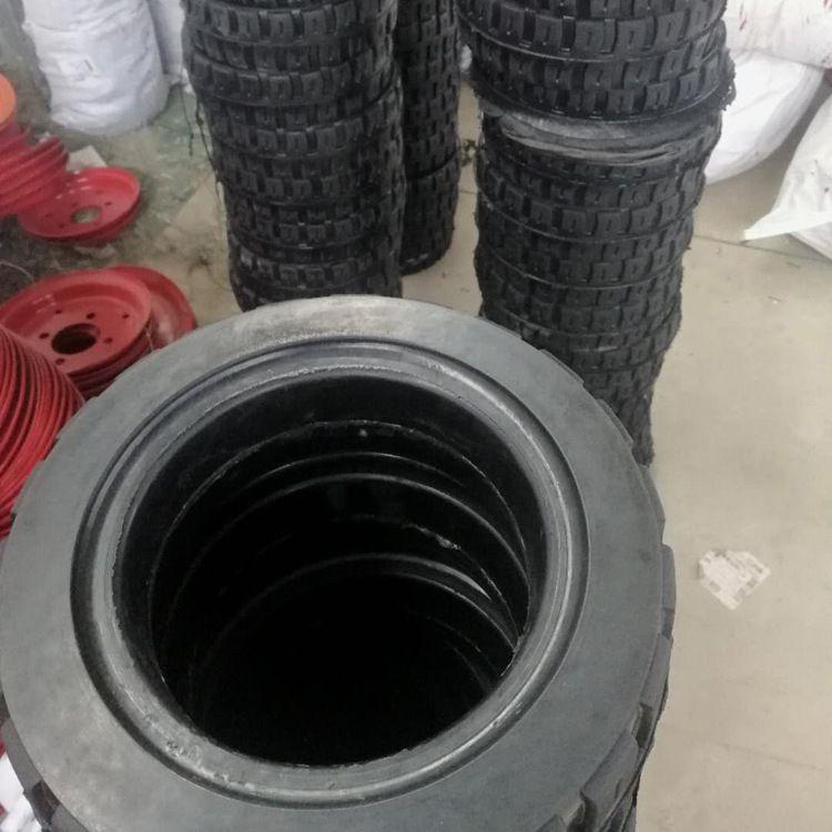 厂家供应高耐磨橡胶实心轮胎 实心轮胎 工程轮胎配套销售
