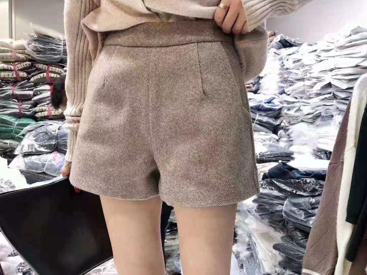 新品针织刺毛英伦人字细斜纹呢绒秋冬弹力裤子外套女装童装面料