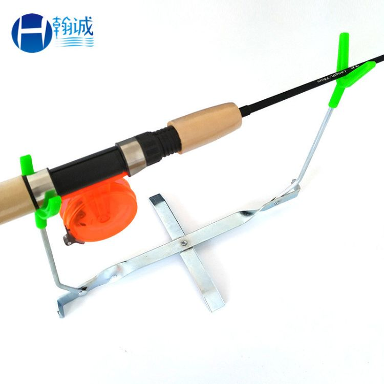 垂钓用品批发 冬钓双头鱼竿架杆 可折叠便携式鱼竿支架 冰钓支架