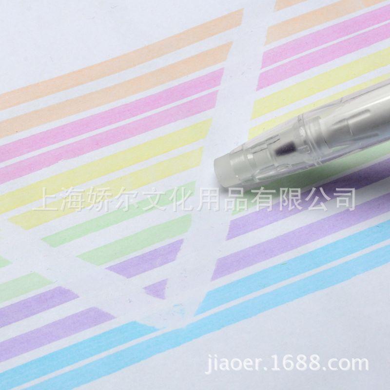 荧光笔 批发厂家直销 可水洗水彩可擦笔 环保可水洗荧光可擦笔