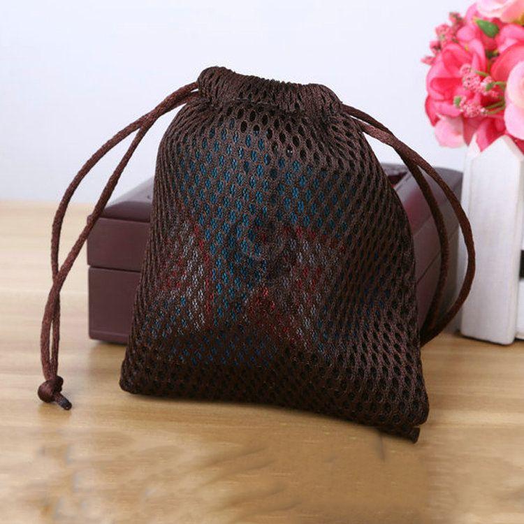 日用品袋 工艺丝印涤纶三明治网布袋 音响餐具网布抽口袋厂家直销