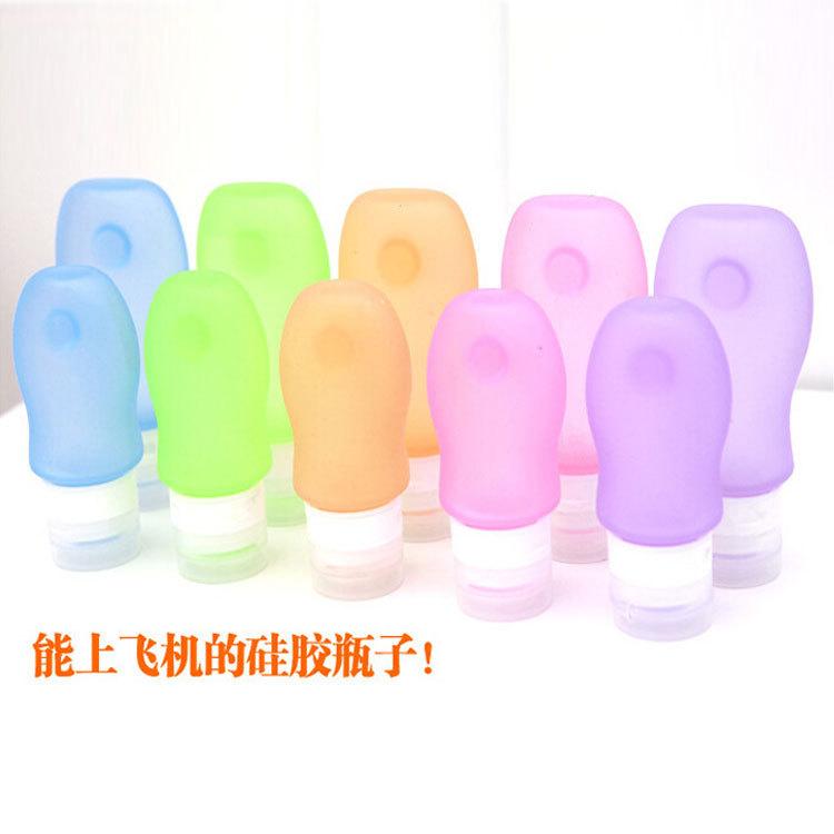 跨境专供洗漱分装瓶硅胶旅行便携套装护肤品洗发水乳液按压空瓶子