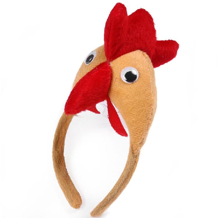 外贸万圣节复活节毛绒玩具兔耳朵发箍装饰品头箍订制