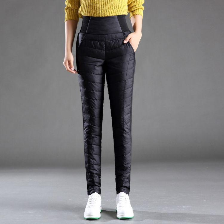 冬装2018新款女士羽绒裤时尚修身显瘦铅笔小脚白鸭绒防寒保暖裤子