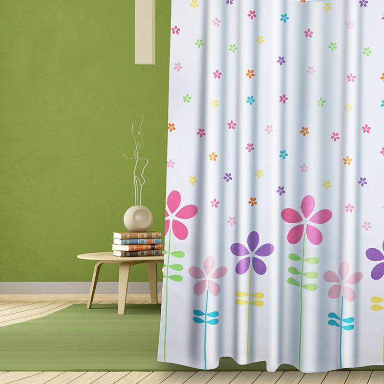 卫生间浴帘加厚防霉洗澡隔断淋浴间门帘子布防水浴室挂帘