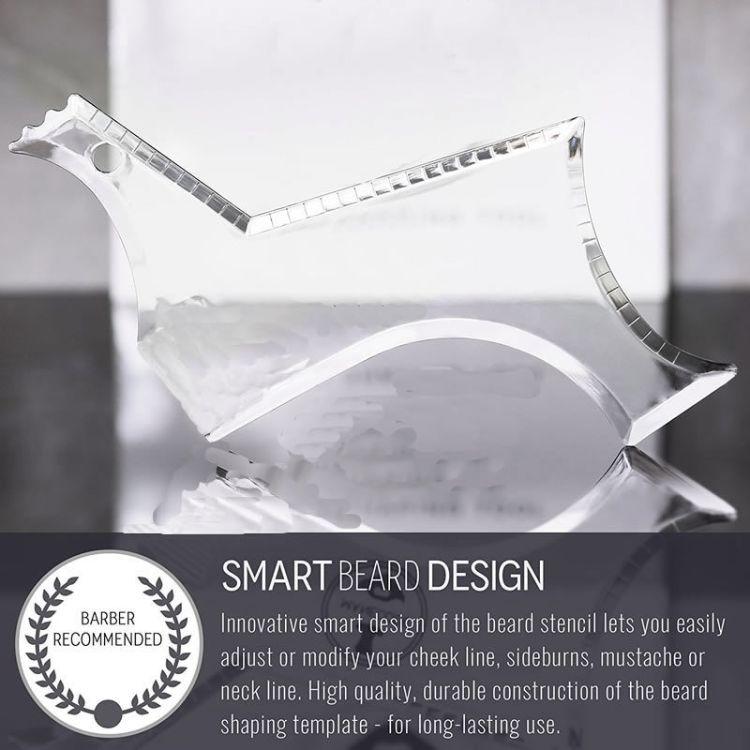 六号胡须造型模板胡子造型模板 clear multi shaping beard tool