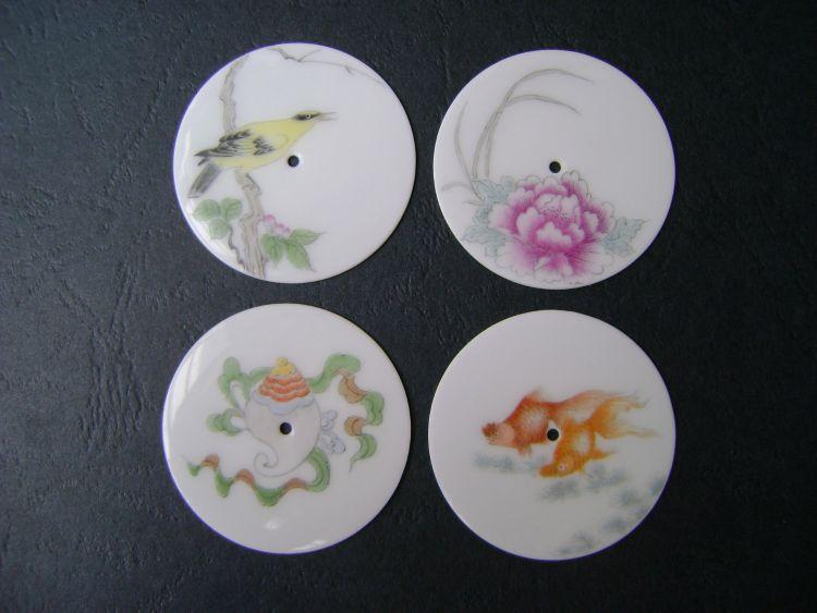 新品推荐陶瓷手绘表盘 景德镇陶瓷表盘 薄胎瓷表盘 手表表盘瓷片
