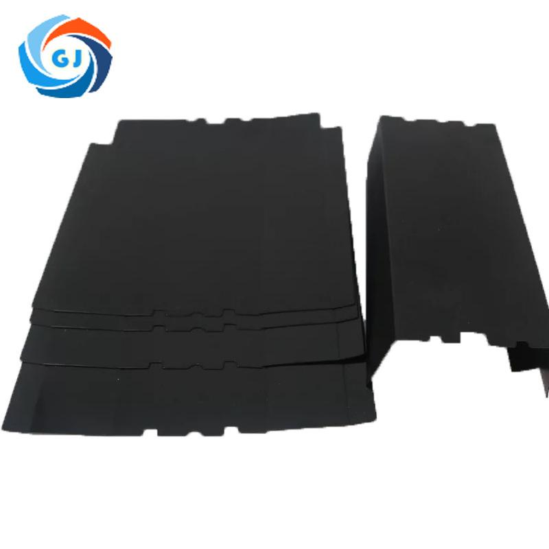 厂家订做黑色防火绝缘垫片 阻燃耐高温麦拉片 折叠94-VO麦拉片