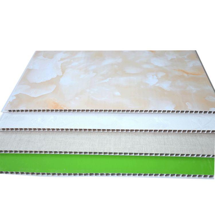 绿色健康环保 石塑集成墙板 厚泽 400*9石塑集成墙板