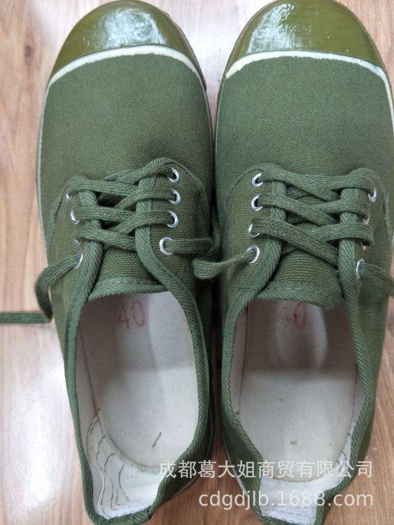 老式军绿解放胶鞋 鞋子量大从优