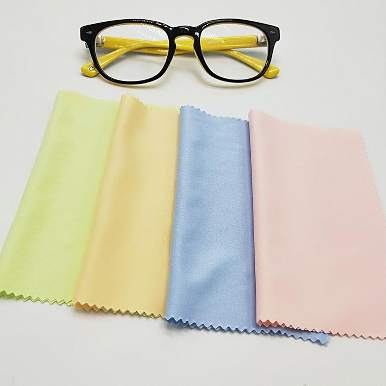 厂家批发超细纤维针二眼镜布 钢琴擦拭布防尘布可定制尺寸可印字
