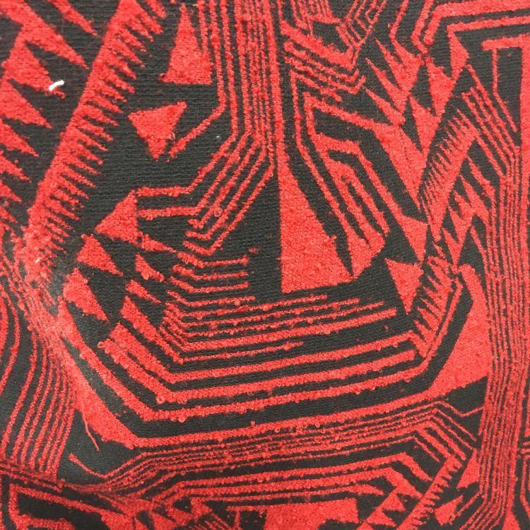 厂家现货色织几何图形圈圈纱毛纺呢绒顺毛面料秋冬大衣新款面料