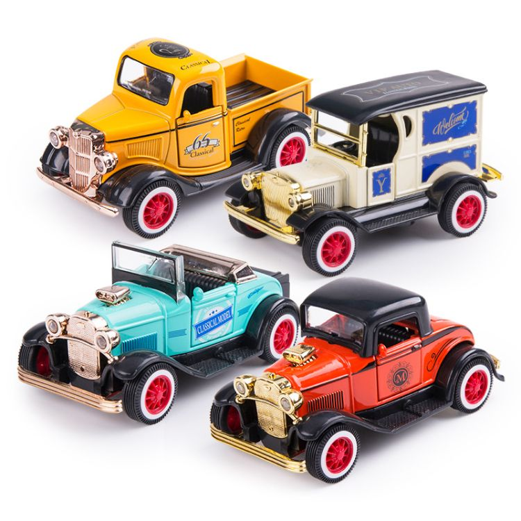 1-36经典合金车模型批发价格 mini迷你复古合金汽车模型批发零售