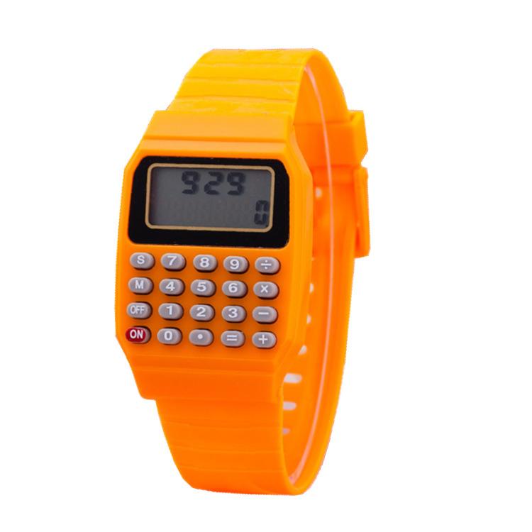 便携式微型儿童计算器手表 907 8位数LED儿童表 淘宝速卖通国际站