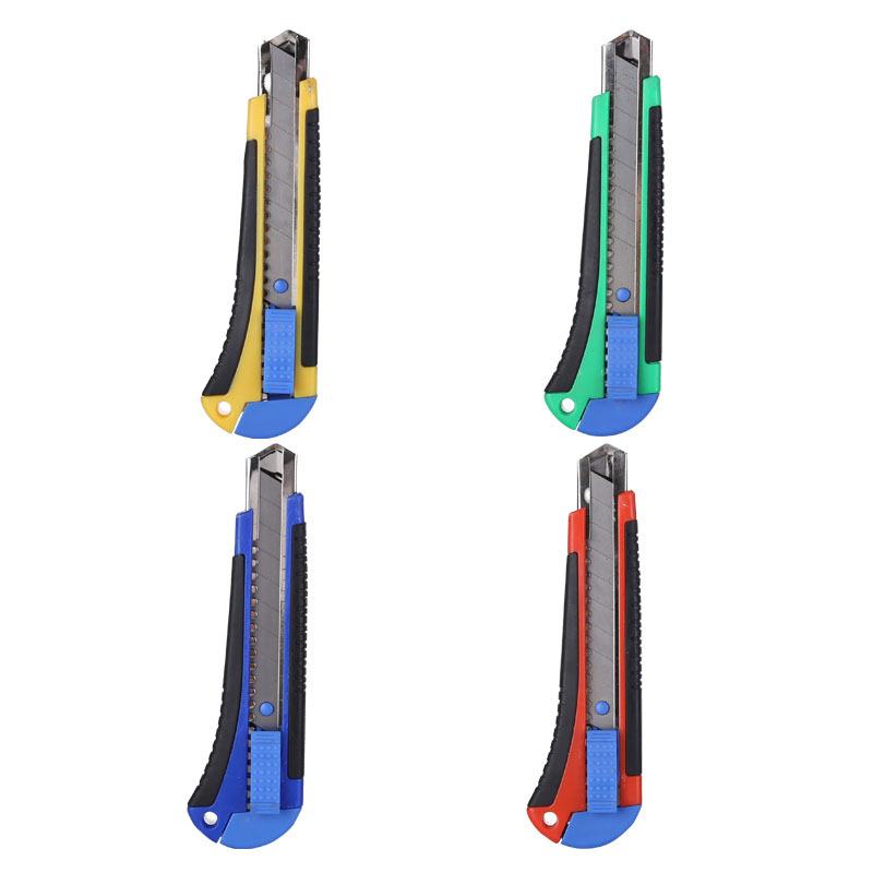 厂家直销2087大小号美工刀 塑料美工刀 多功能手推刀 加工定制
