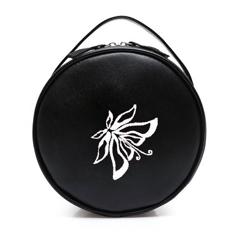 工厂订制手提化妆包 大容量黑色定制logo收纳包手拿包化妆袋大号便携防水旅行洗漱包