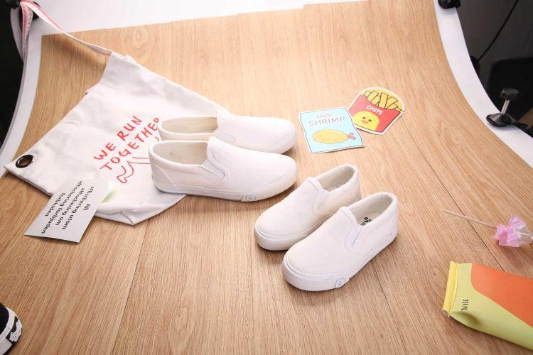 儿童板鞋韩版大童套脚小白鞋童鞋大童成人亲子鞋一件代发
