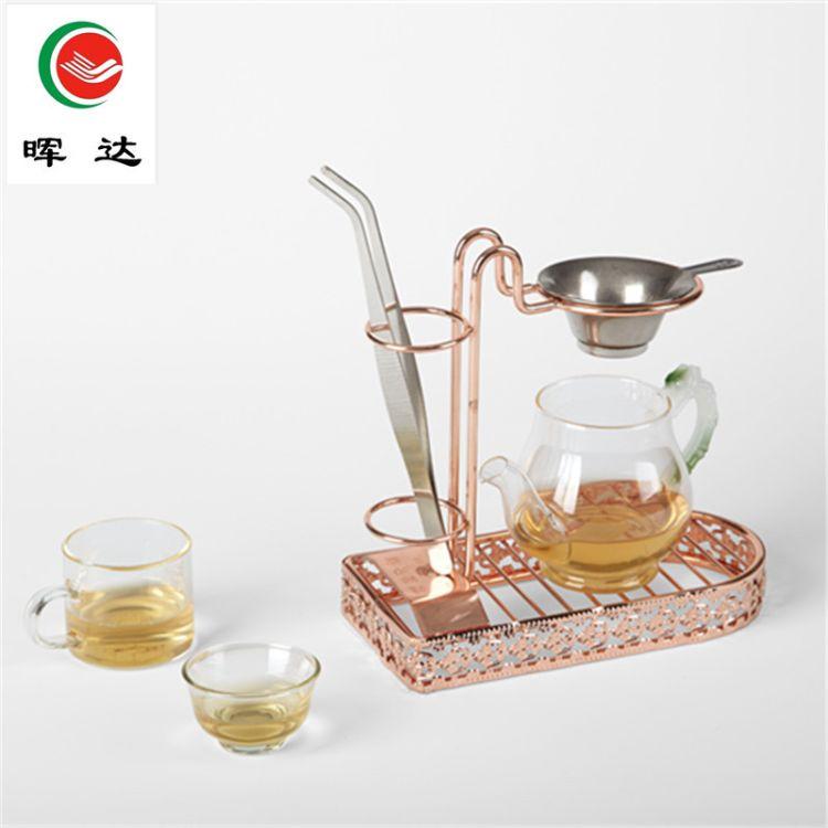 晖达精品不锈钢易泡茶支架 茶漏架易泡架懒人泡茶架高档茶具配件