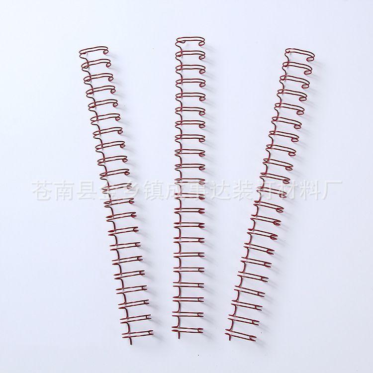 笔记本圈挂历圈金属包胶线圈定制 双螺旋圈装订 携带型环保线圈