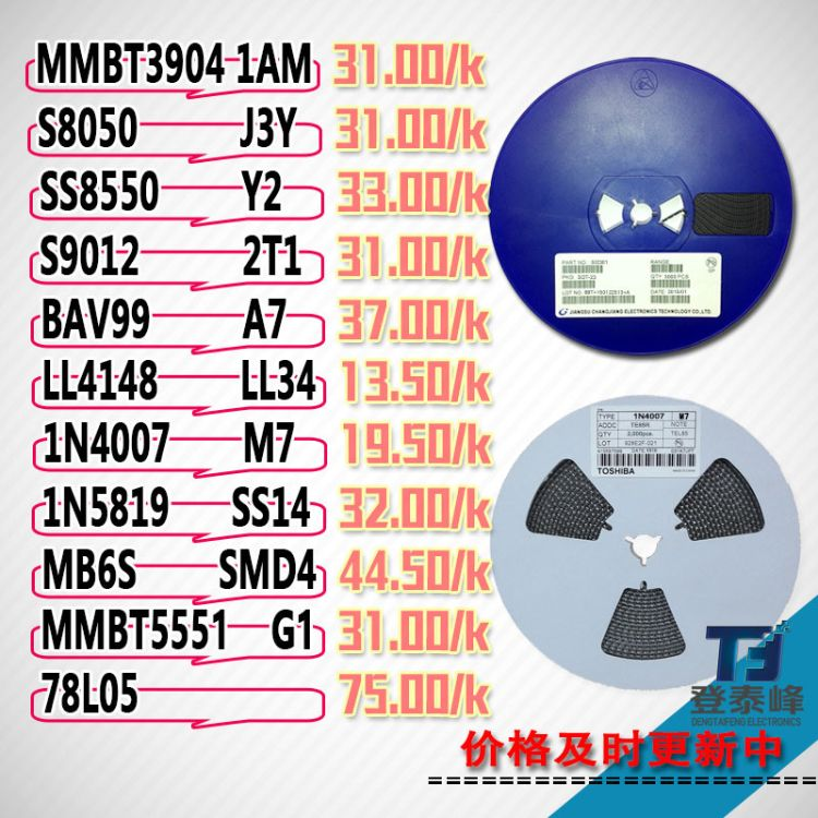 厂价直销国产贴片直插三极管批发 二极管 晶体管 SMD 原装现货