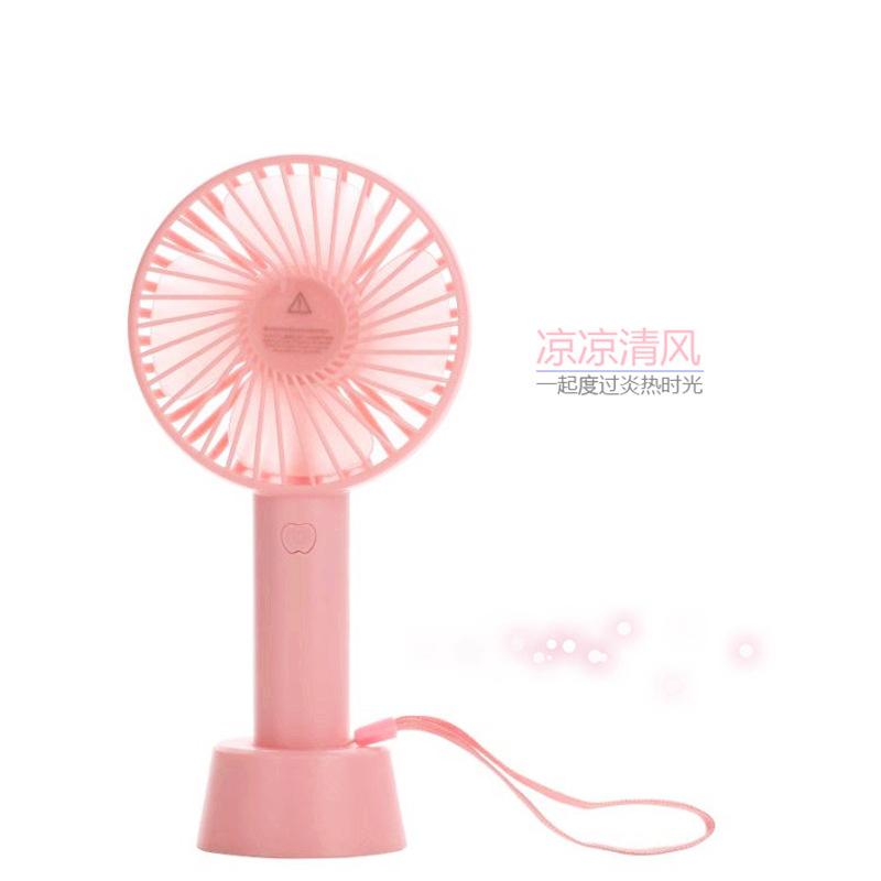 夏季 迷你手持小风扇 可调三档风速 USB 静音充电款吹风机批发