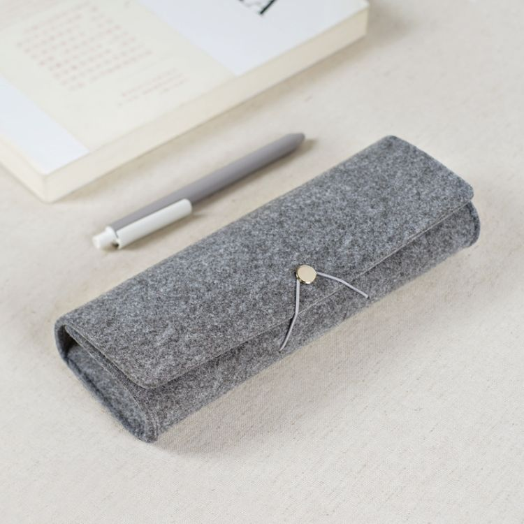 毛毡笔袋 新款眼镜袋 定制logo多功能创意大容量毛毡文具笔袋